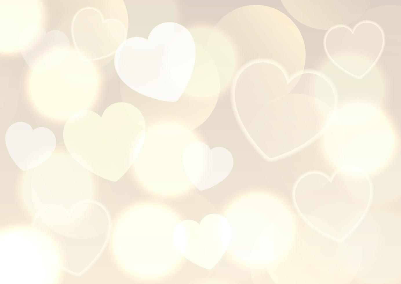Valentijnsdag achtergrond met gouden bokeh lichten ontwerp vector