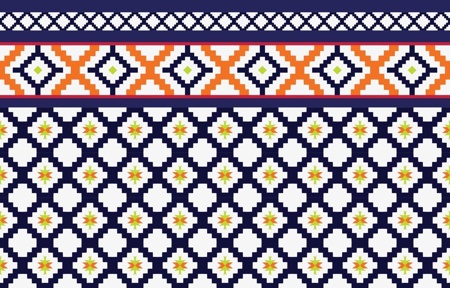 abstract etnisch geometrisch etnisch patroon traditioneel ontwerp voor een achtergrond vector