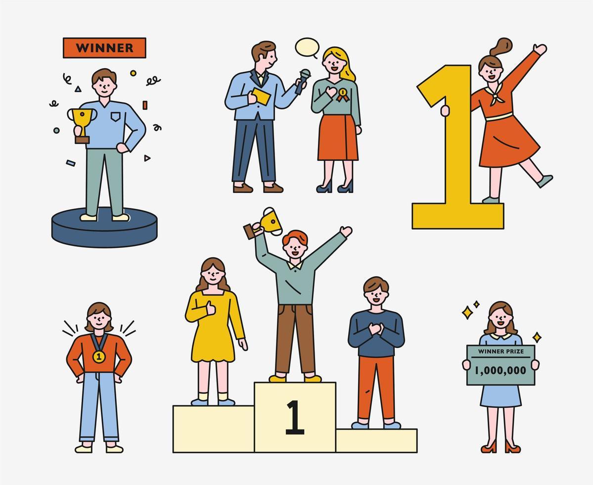 een verzameling winnaars. vector