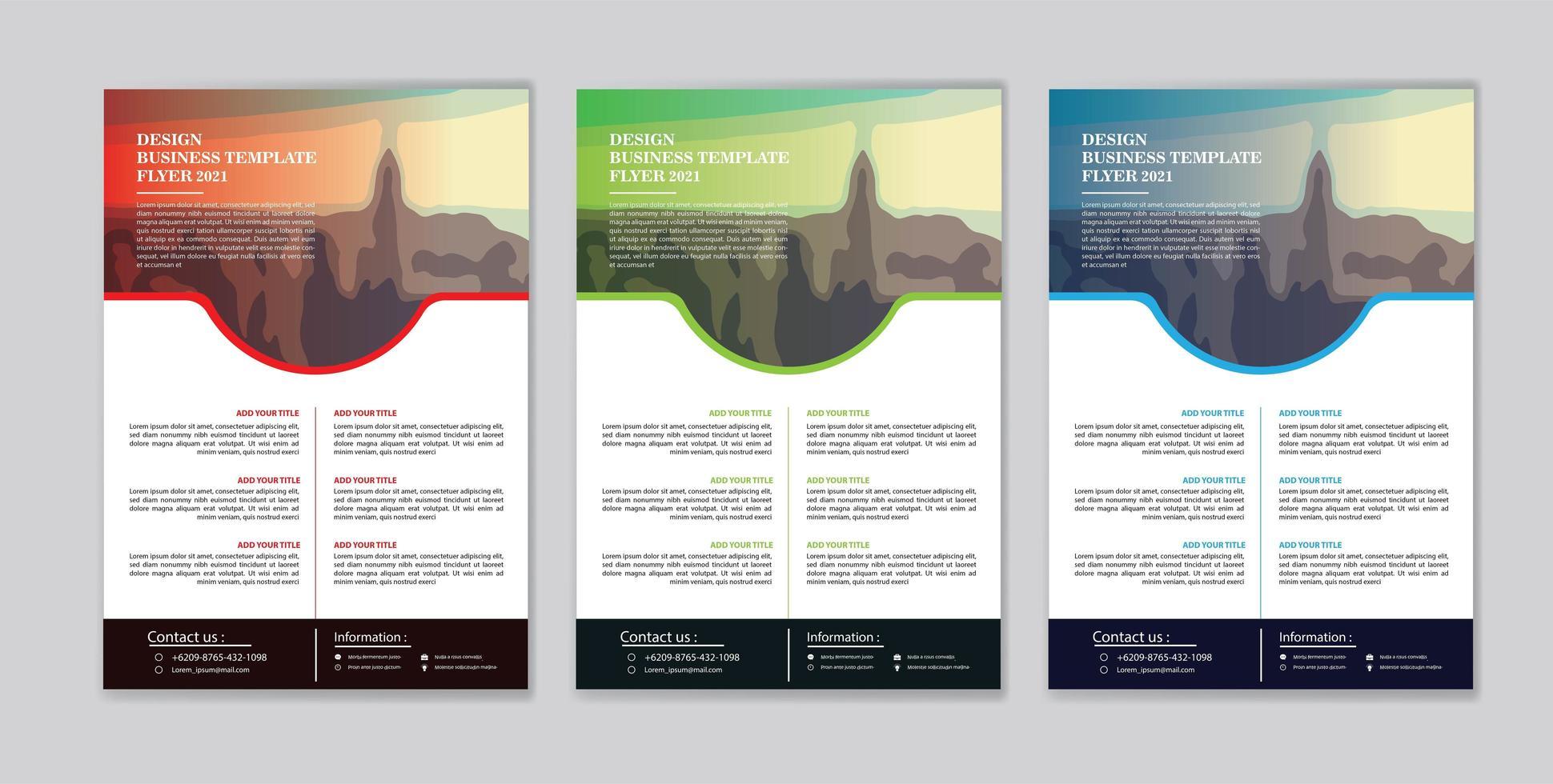 flyer sjabloonontwerp voor cover layout jaarverslag vector