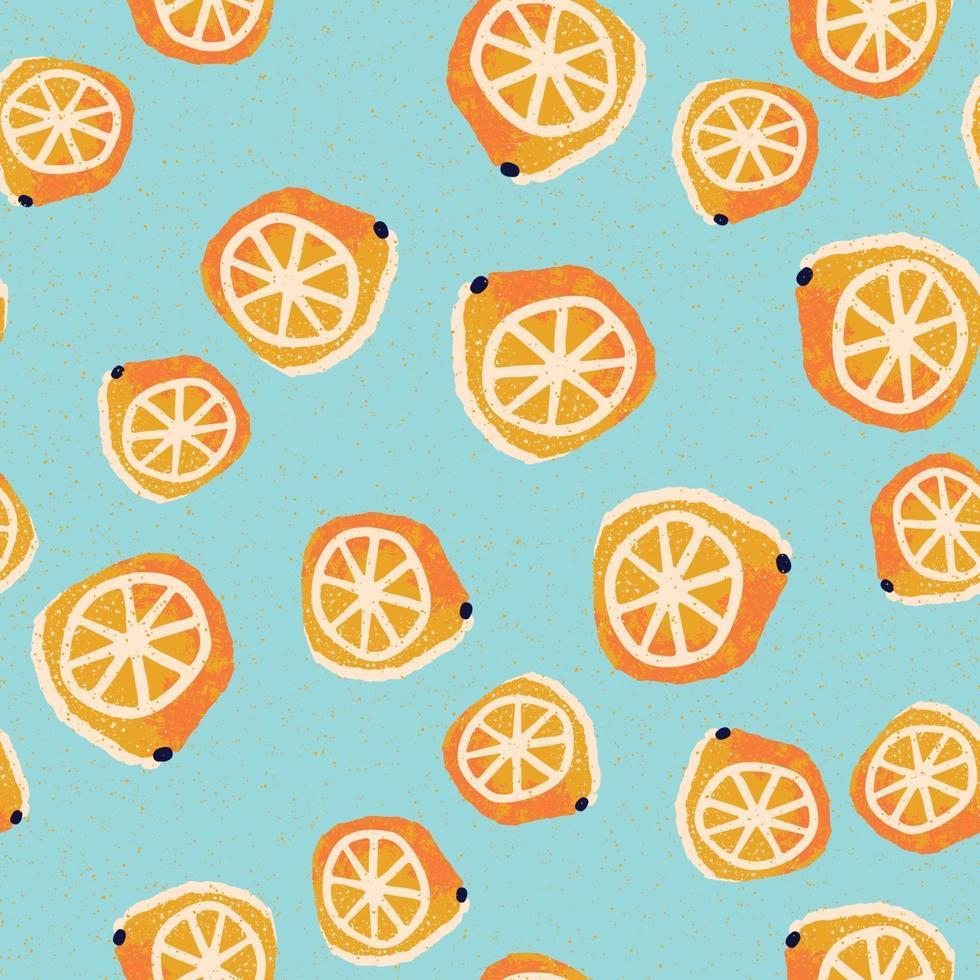 handgetekende citroenen naadloze patroon vector