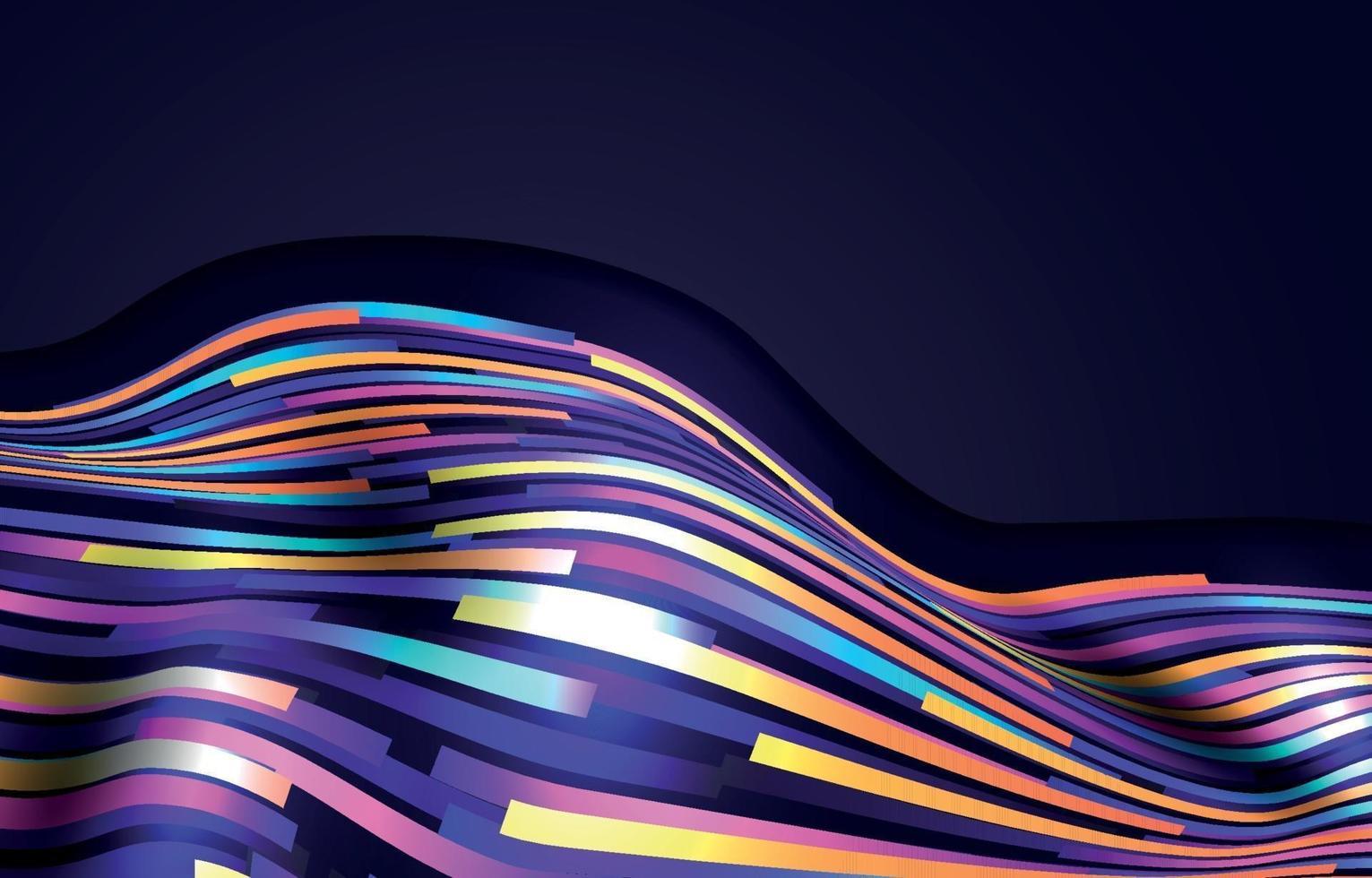 kleurrijke geometrische golfachtergrond vector