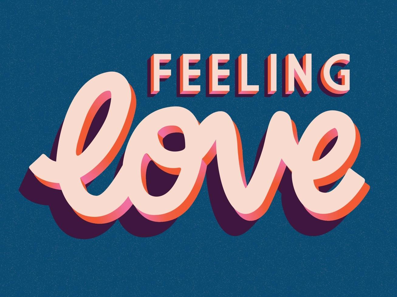 wenskaart met happy Valentijnsdag hand belettering van ontwerp. kleurrijke hand getrokken illustratie met typografie. vector