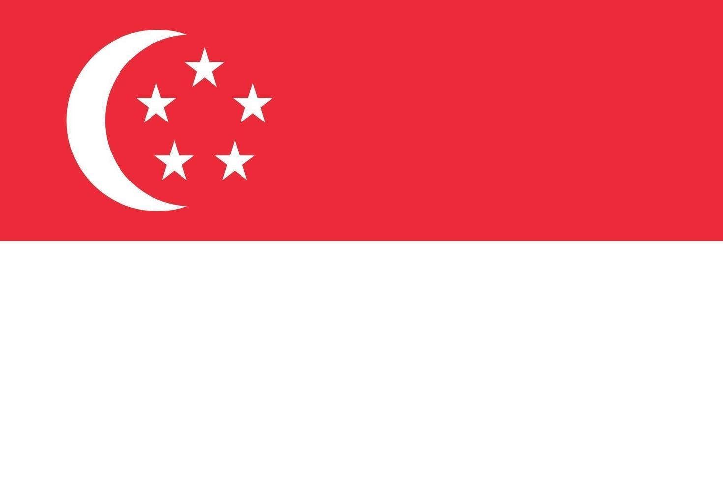 vlag van singapore vector isoleren banner print illustratie