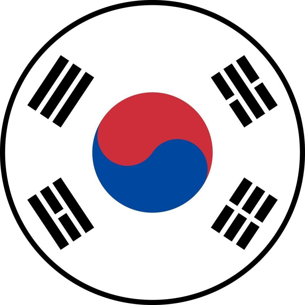 vlag van zuid-korea pictogram vector isoleren