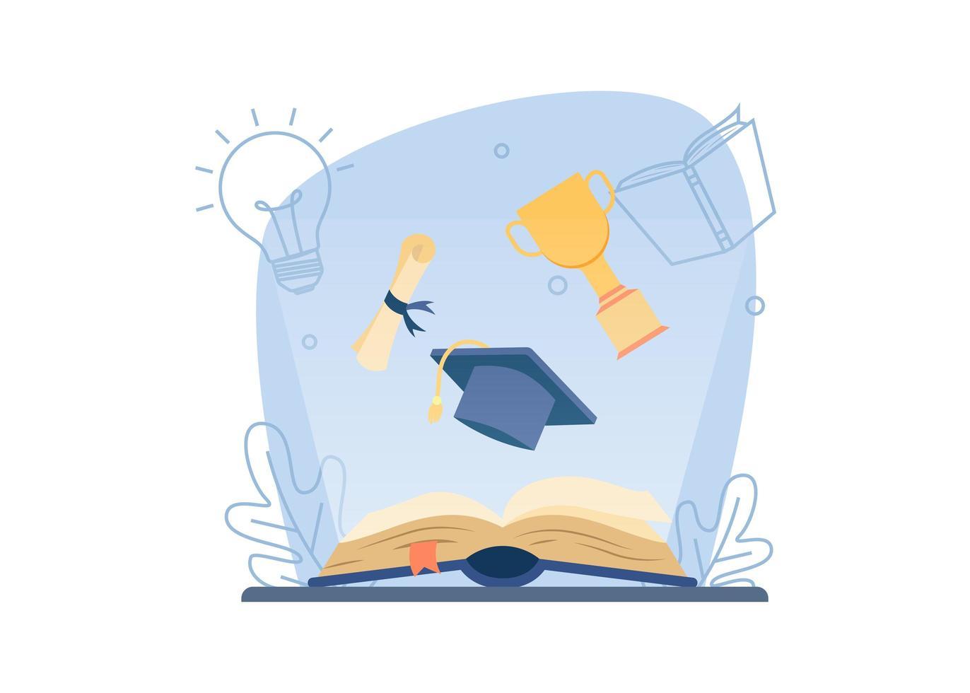 banner voor leren en onderwijs vector