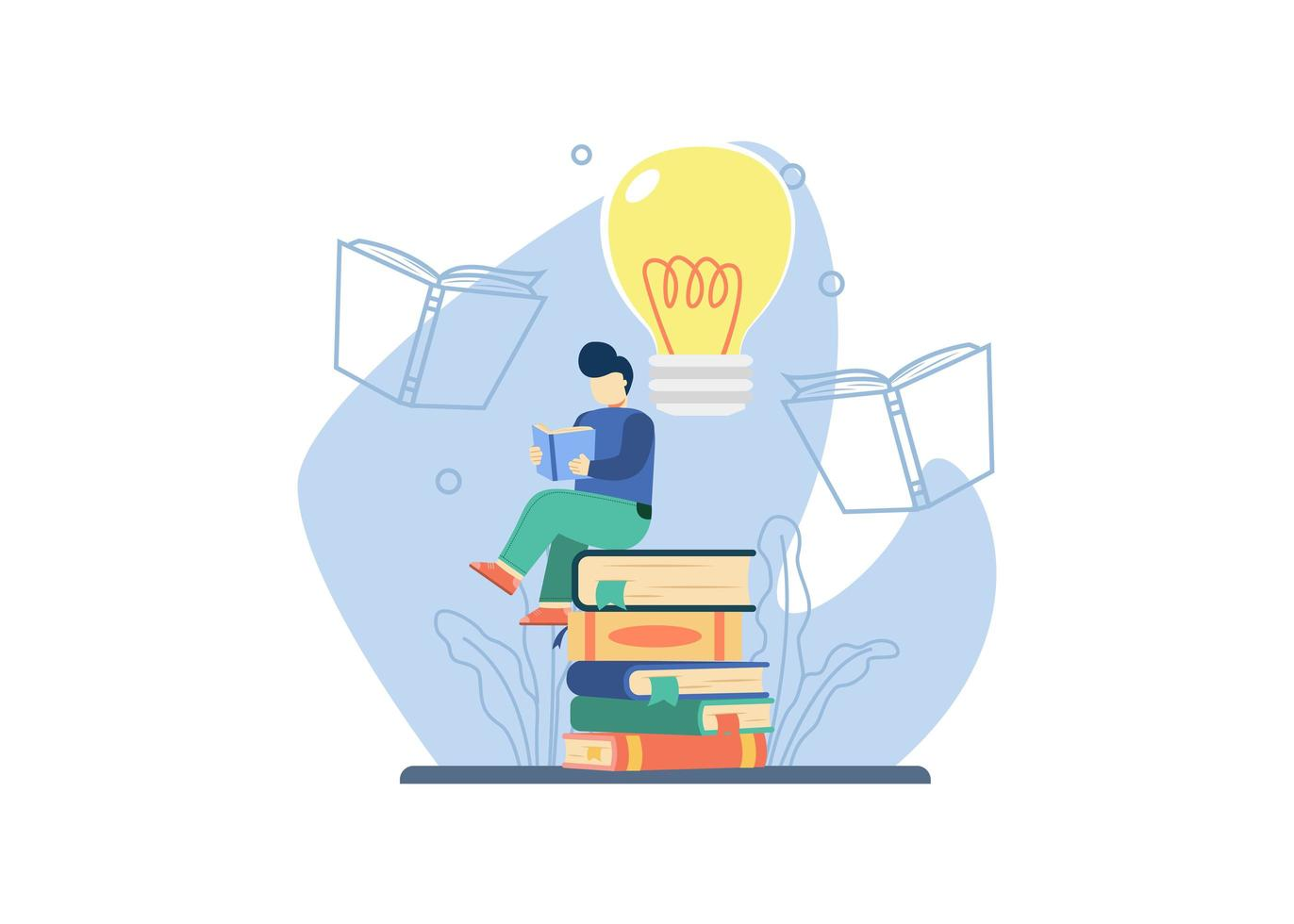 onderwijs en onderzoek concept vector