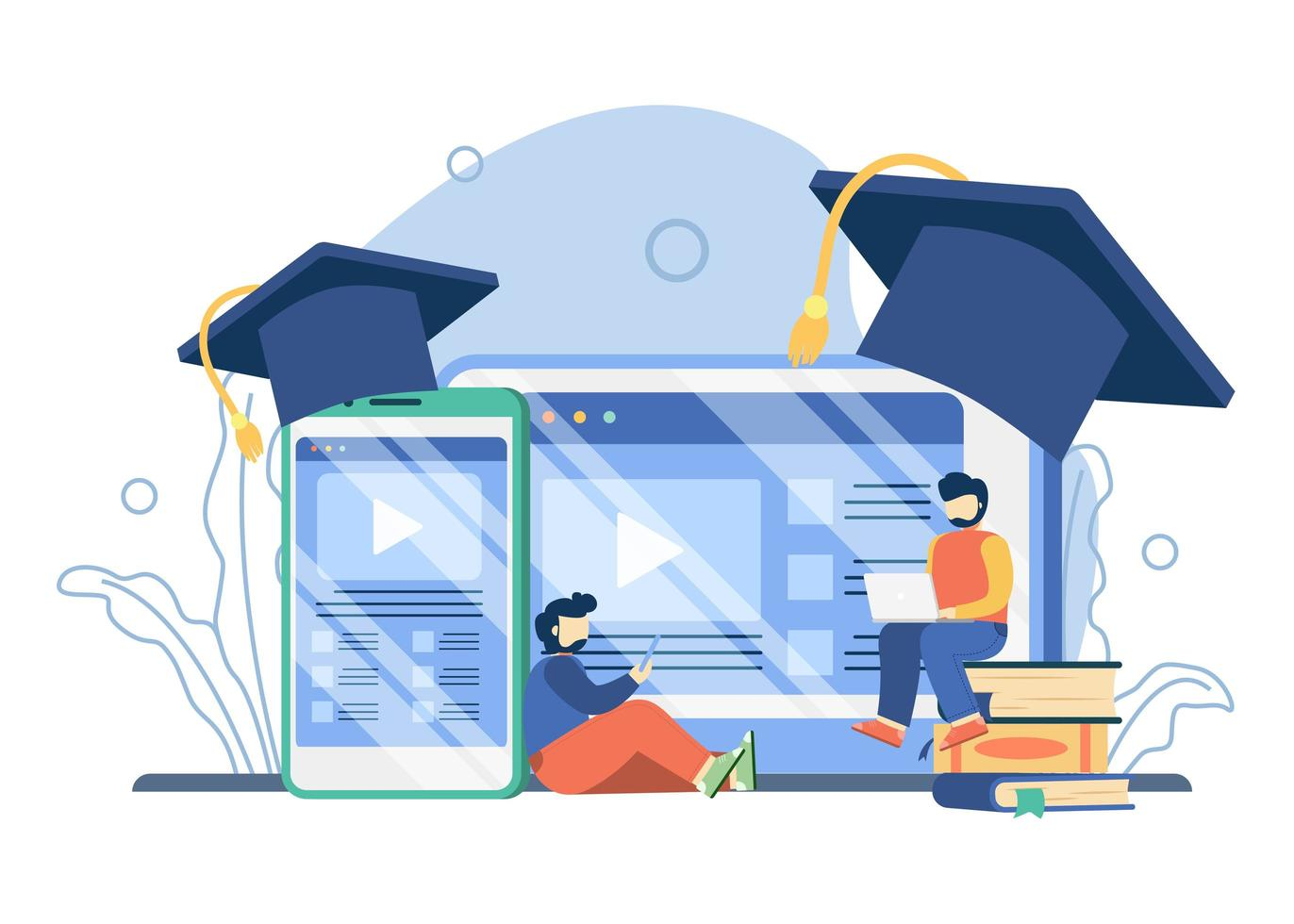 online onderwijsplatform concept vector