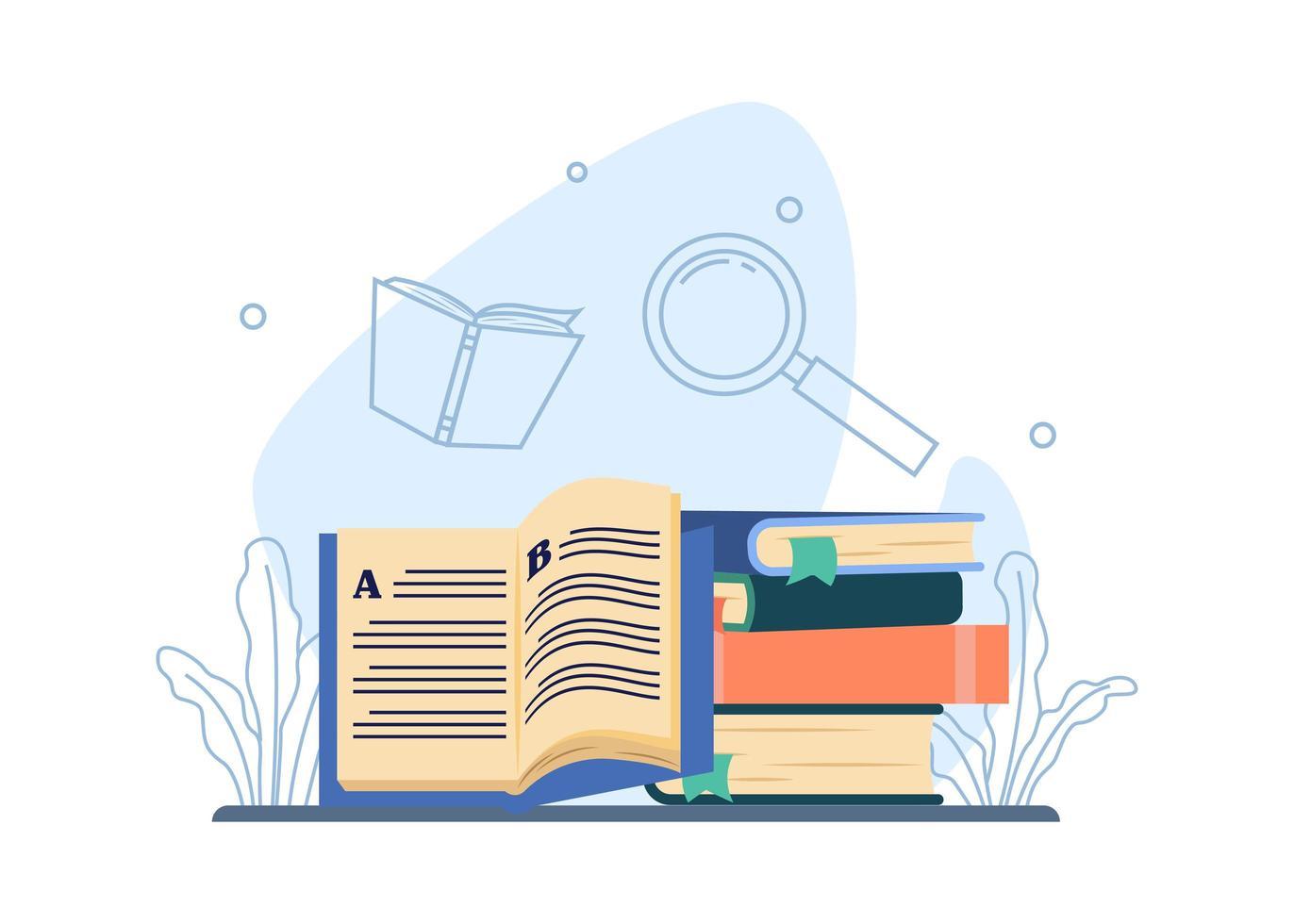 bibliotheek onderwijs concept vector
