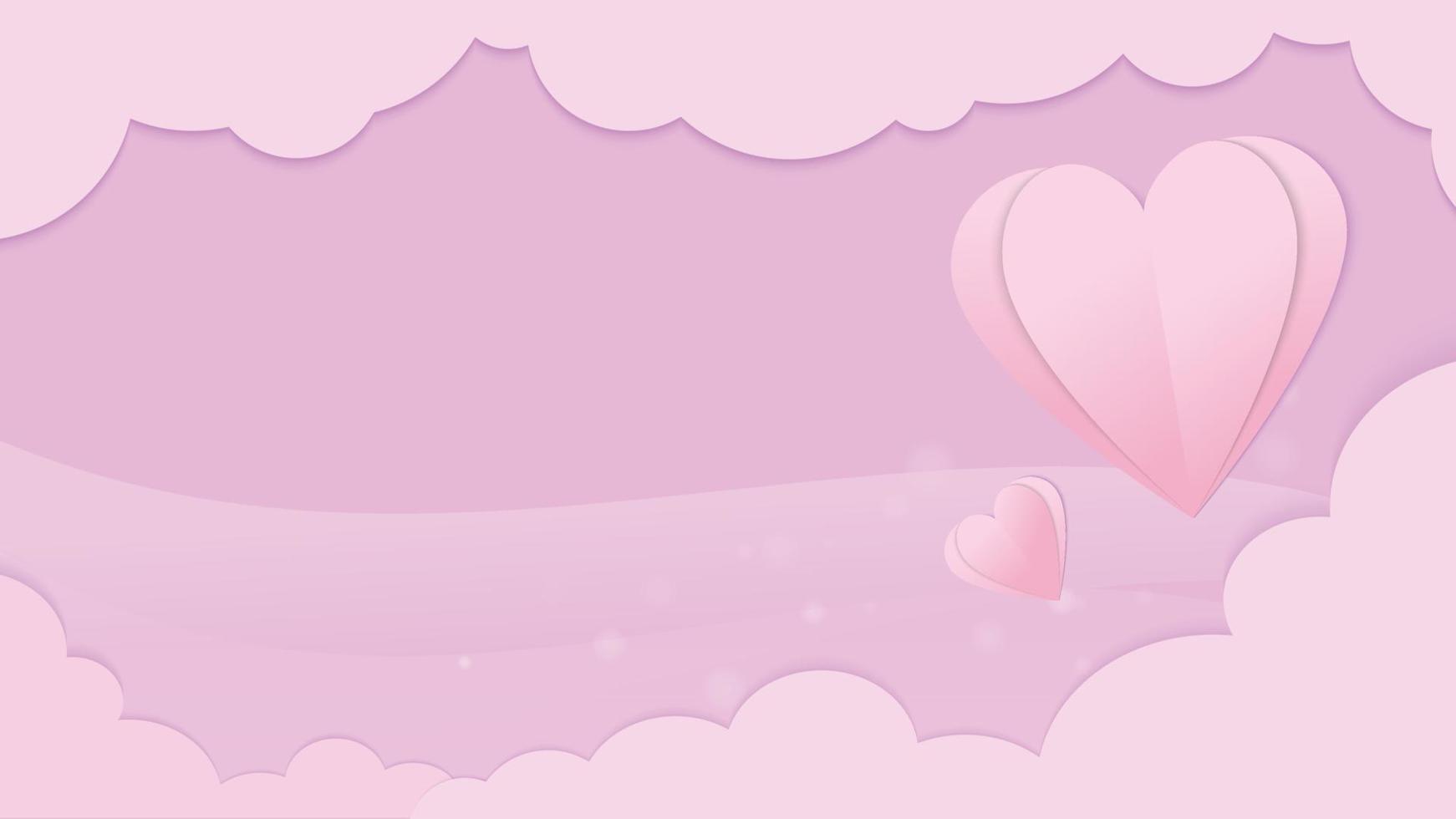 hart en wolk vector afbeelding voor Valentijnsdag inhoud