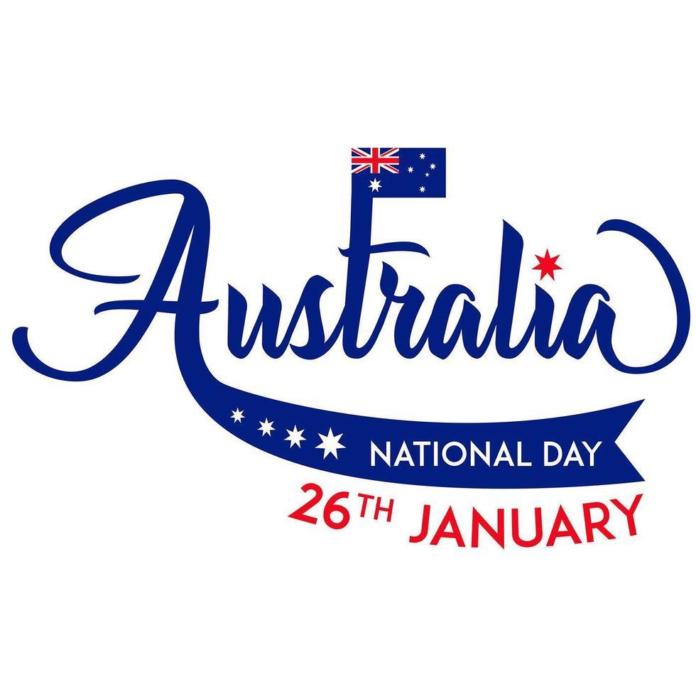 nationale dag van australië op 26 januari behang vector