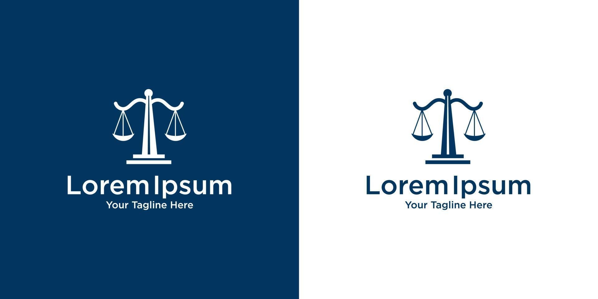 advocatenkantoor logo ontwerpsjabloon vector