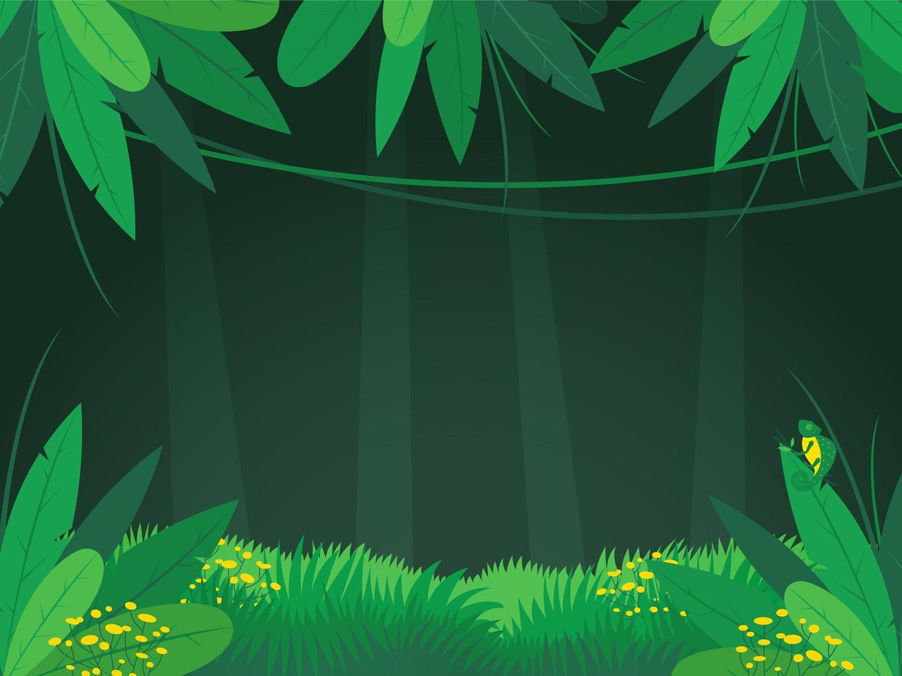tropisch regenwoud jungle achtergrond vector