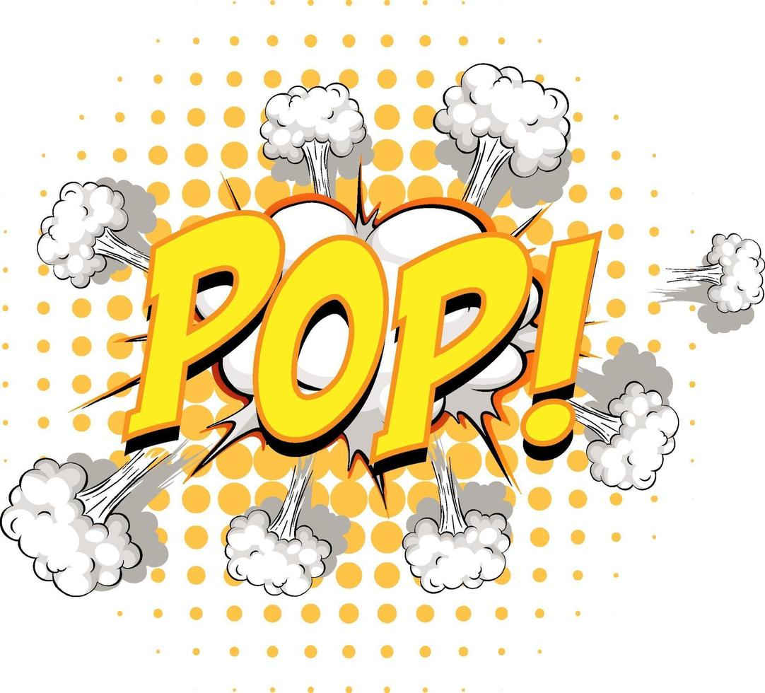 komische tekstballon met pop-tekst vector