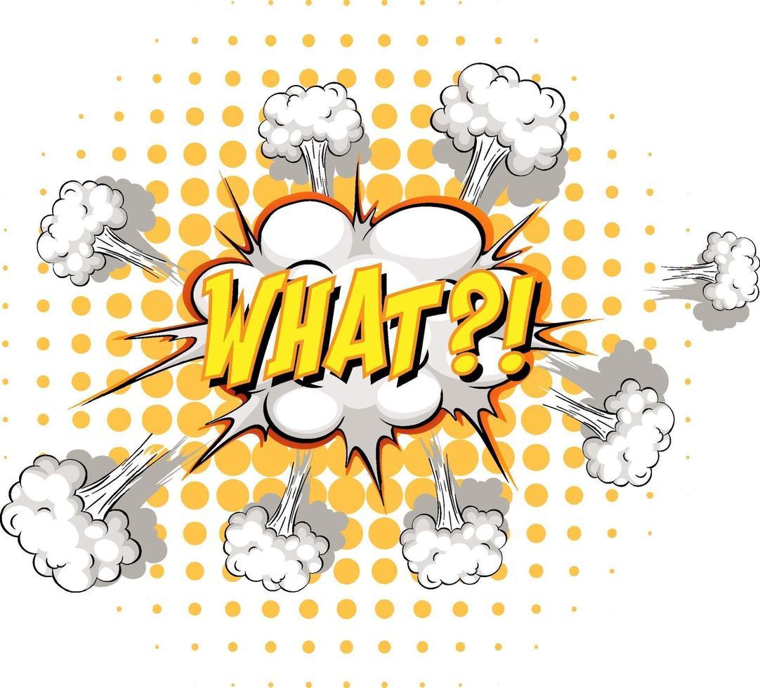 komische tekstballon met welke tekst vector