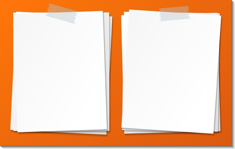 set van lege notitie papier sjabloon vector