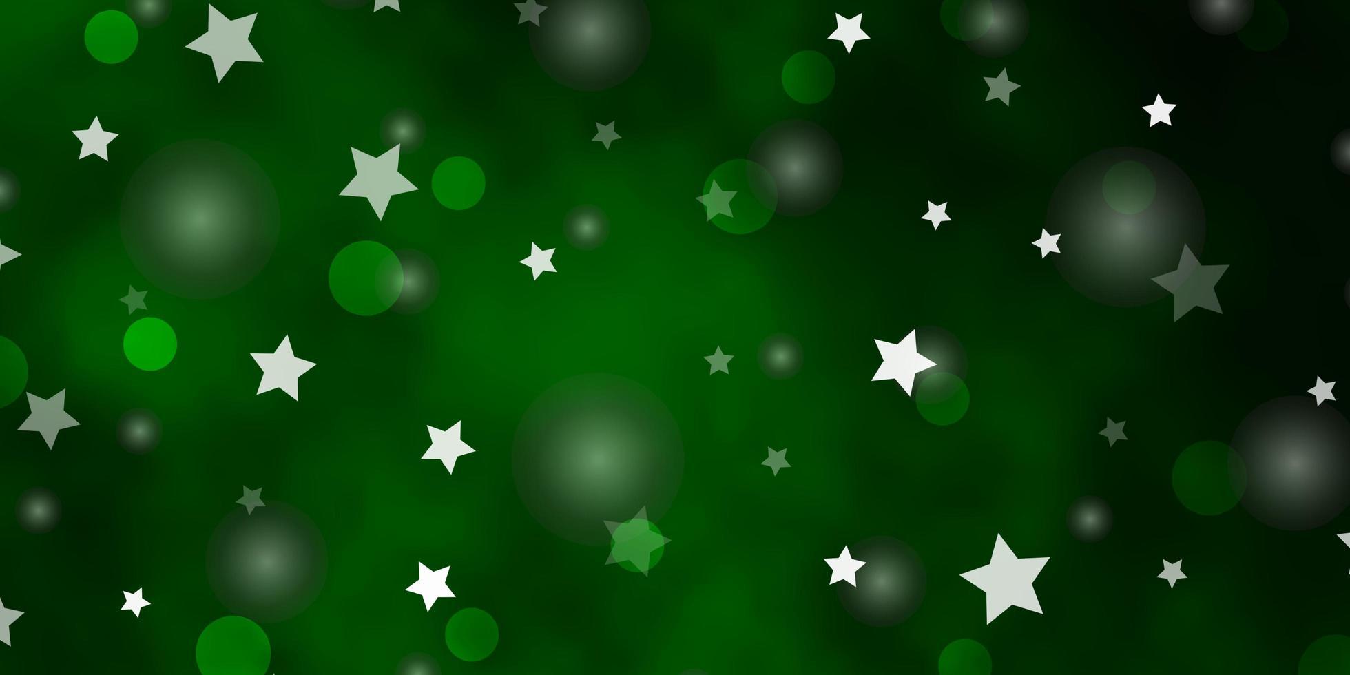 lichtgroene vector achtergrond met cirkels, sterren.
