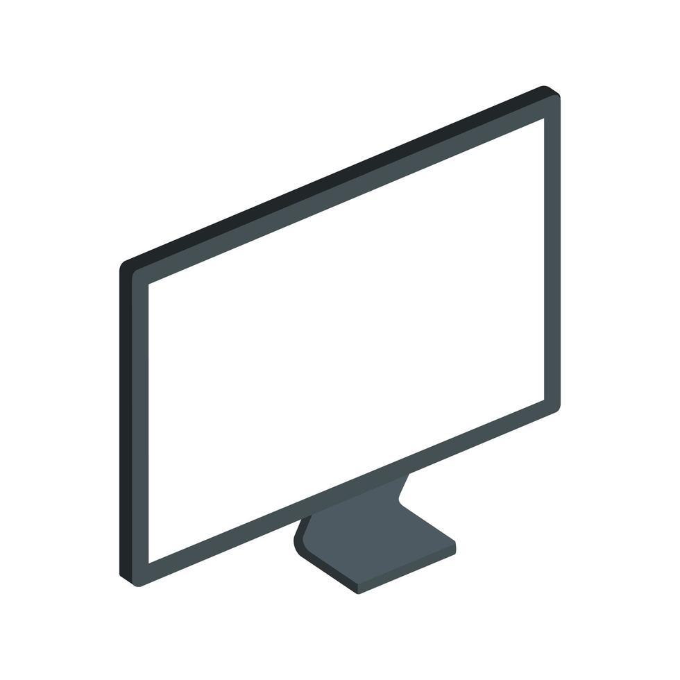 computer desktop apparaat geïsoleerd pictogram vector