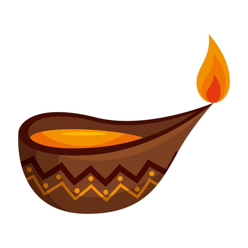 kaars Indiase decoratieve accessoire pictogram vector