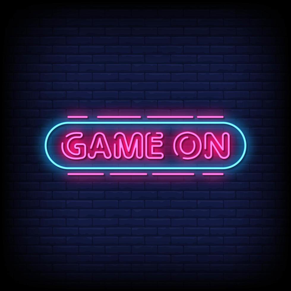 spel op neonreclamestijl tekst vector