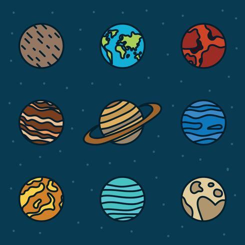 Set van planeten vector