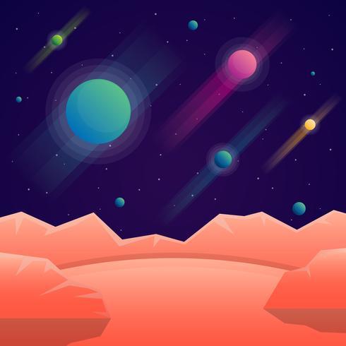 Planeten Cosmos Universe Set vector