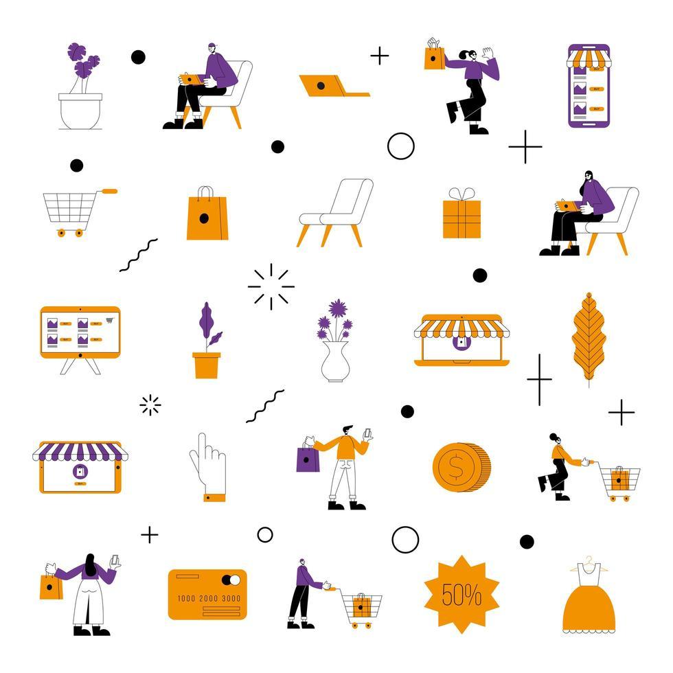 online winkel pictogramserie vector