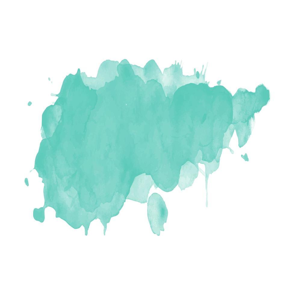 groene aquarel splash vector sjabloon