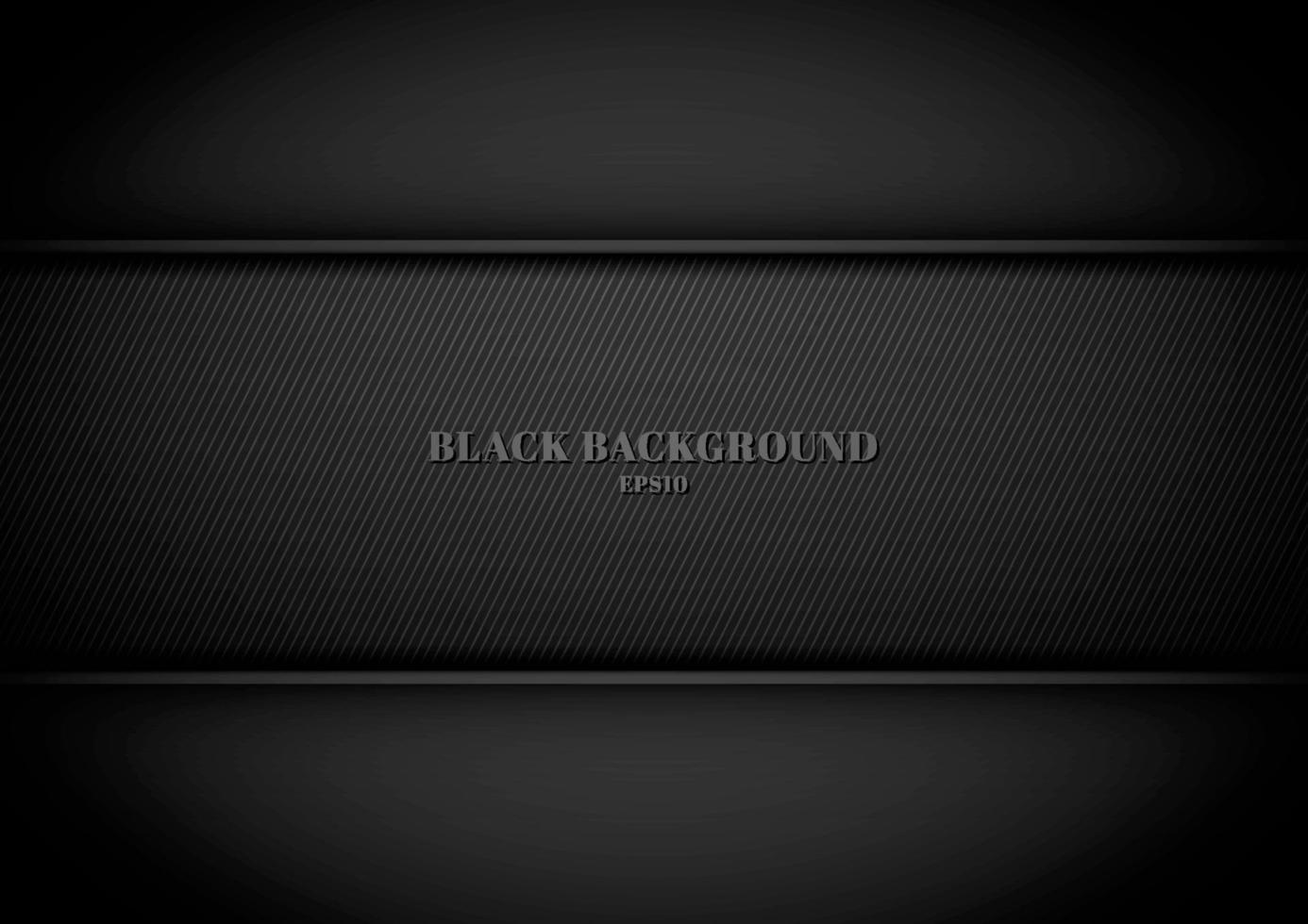 zwarte metalen achtergrond en textuur met ruimte voor uw tekst. vector