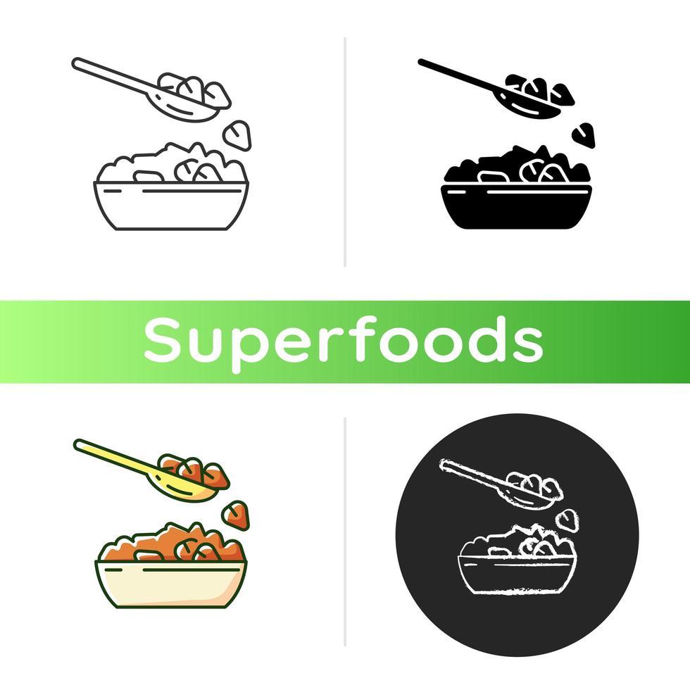 boekweit voedsel pictogram vector
