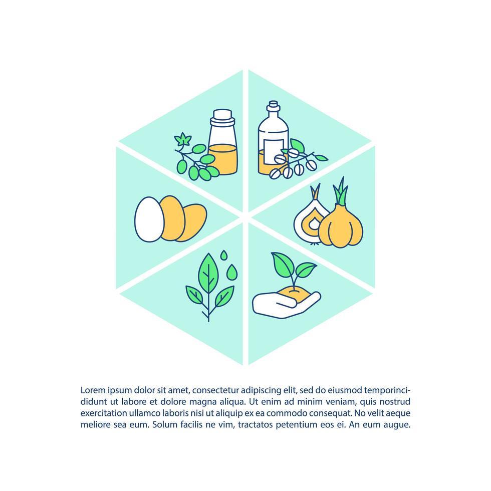 landbouwproducten concept pictogram met tekst vector