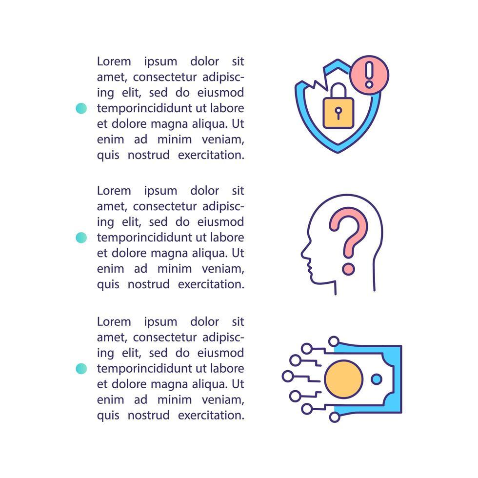 privacy betreft concept pictogram met tekst vector