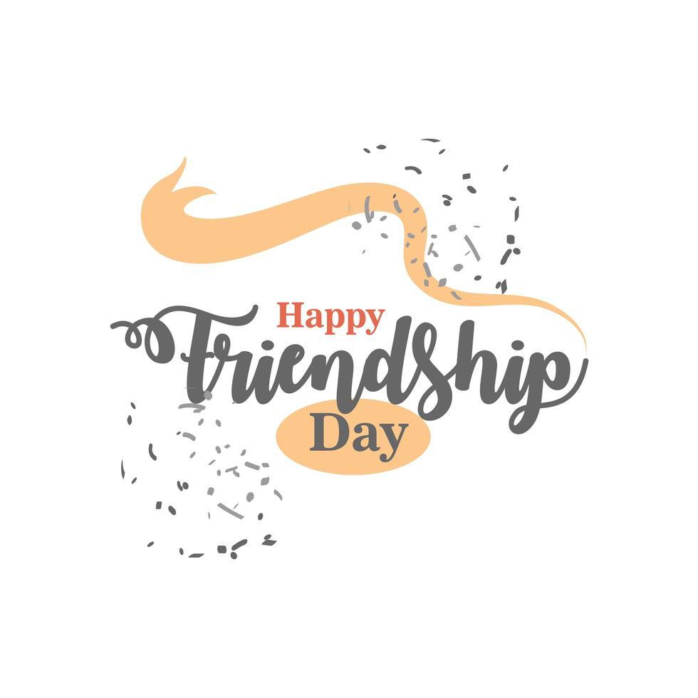gelukkige vriendschapsdag gedetailleerde stijl pictogram vector ontwerp