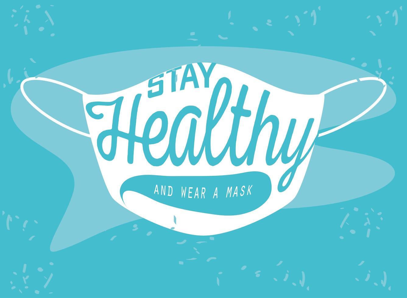 bescherm uzelf, draag een gezichtsmasker vector