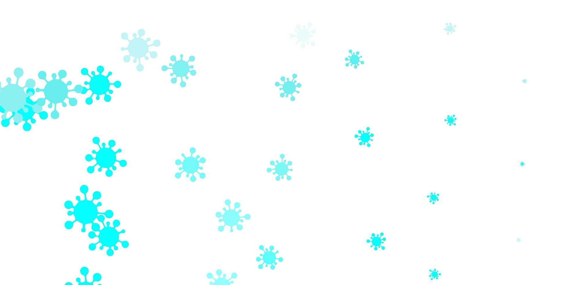 lichtgroene vectortextuur met ziektesymbolen. vector