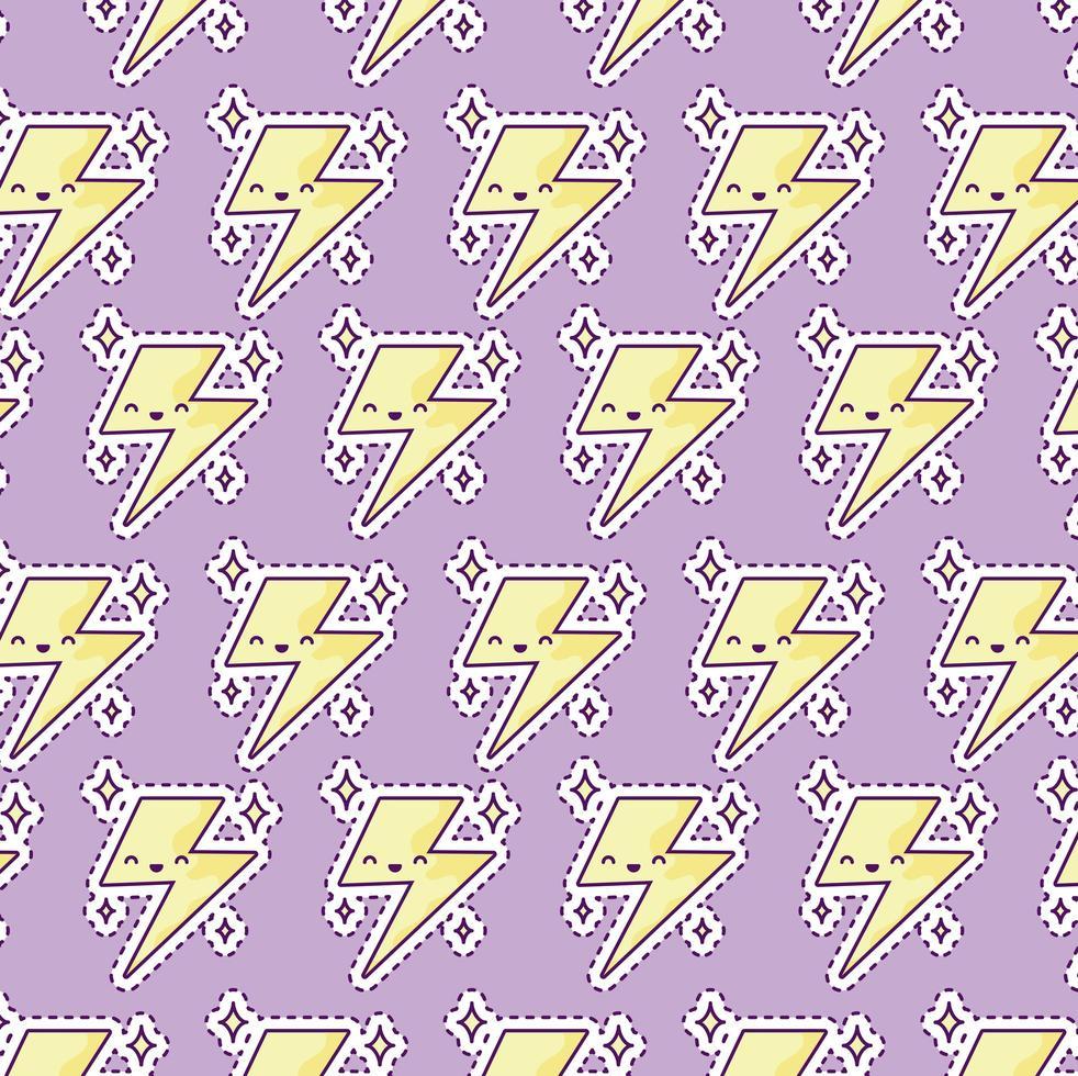 patroon met donder, patch-stijl vector