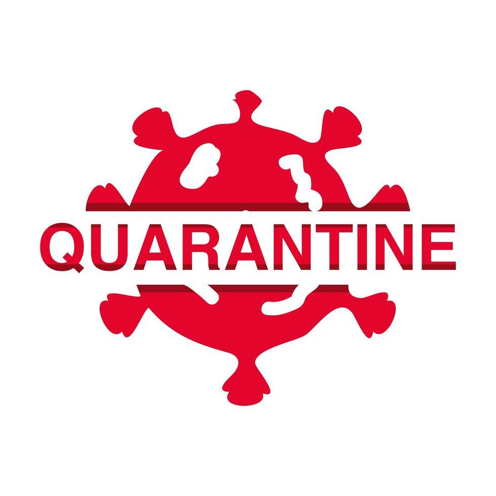 stop de uitbraak van coronavirus of covid 19, quarantainebanner met virus vector
