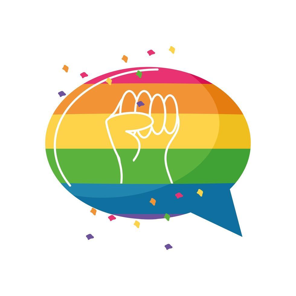 hand met symbool van vrede en liefde, gay pride vector
