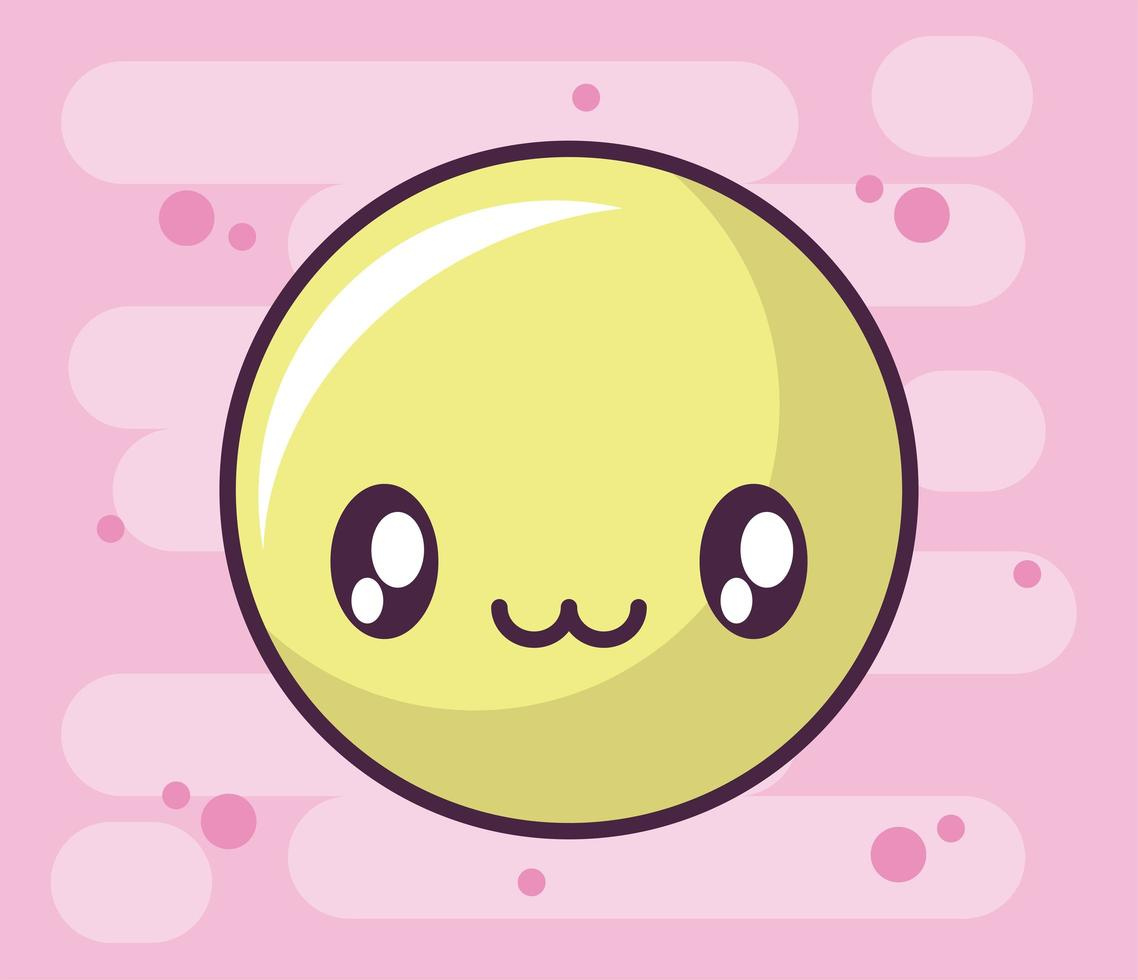 blij gezicht pictogram, kawaii stijl emoticon vector
