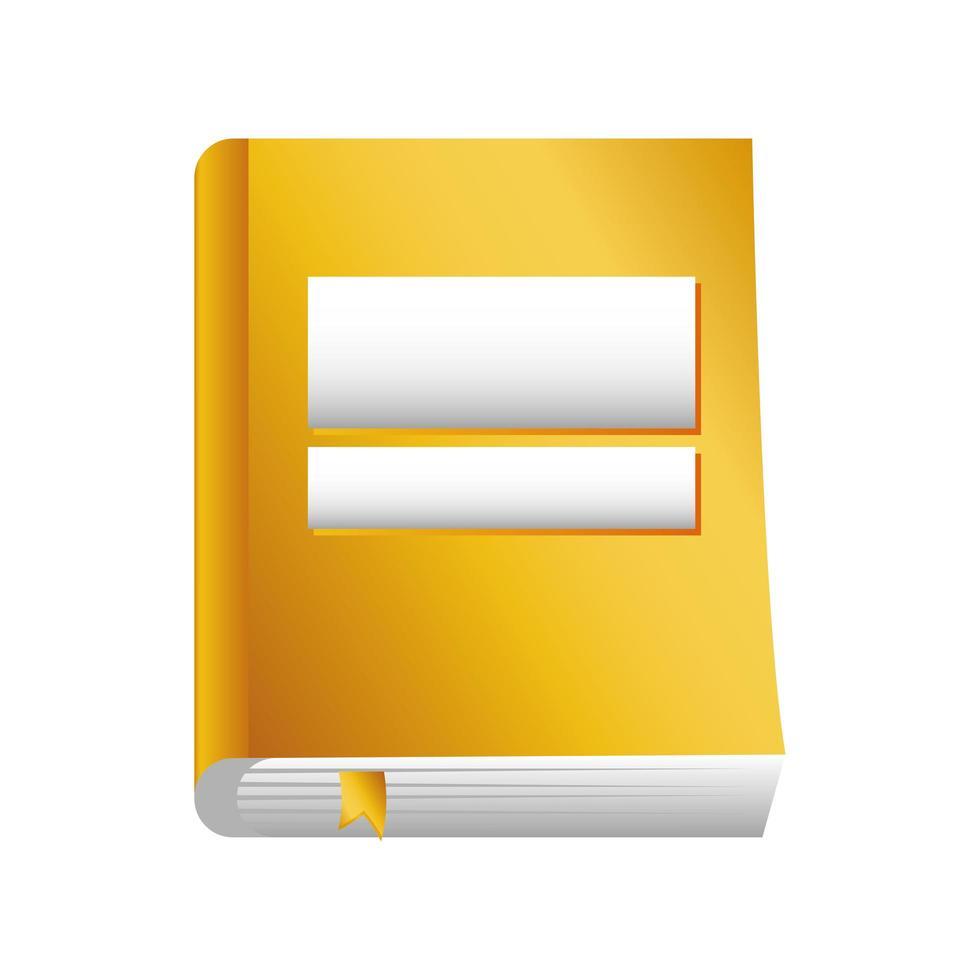 geel boek op witte achtergrond vector