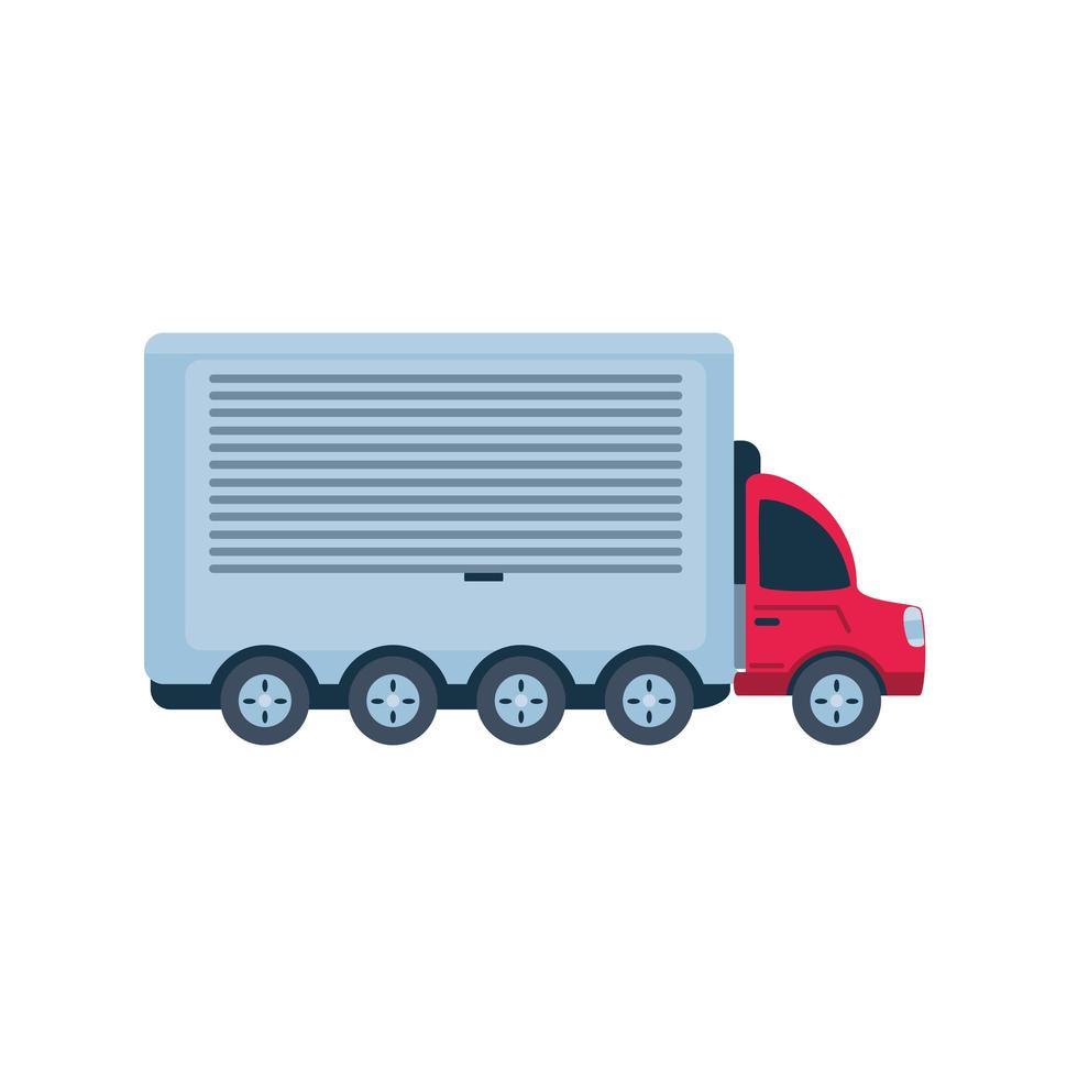vrachtwagen, vrachtvervoer op witte achtergrond vector
