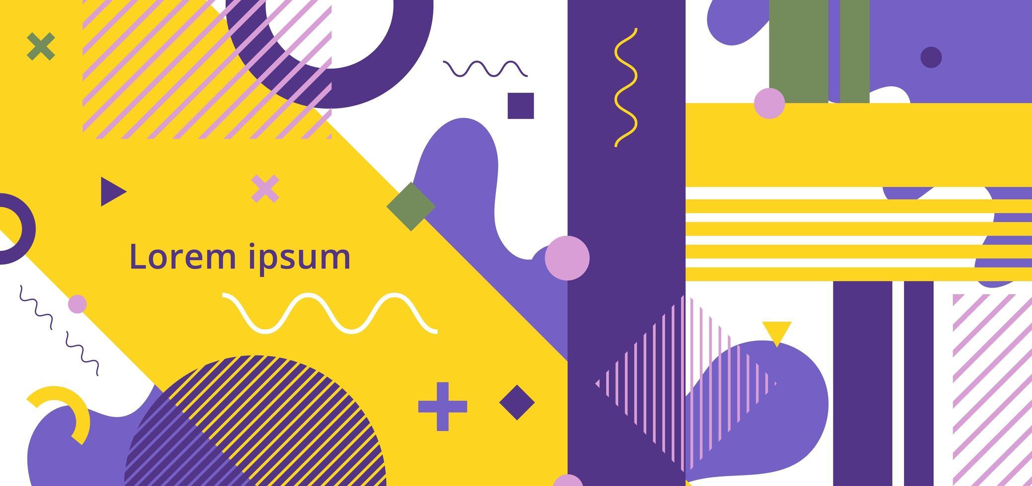 abstracte minimale geometrische patroon Memphis stijl vector