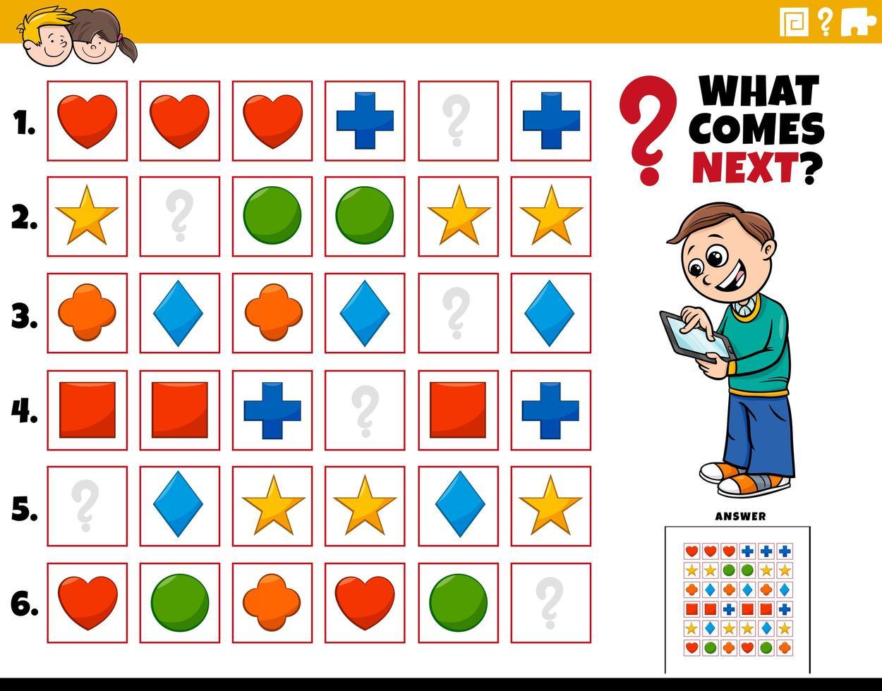 vul het patroon van educatieve activiteit voor kinderen vector