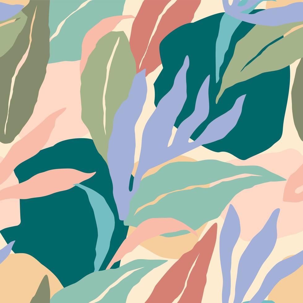artistieke naadloze patroon met abstracte bladeren. modern ontwerp. vector