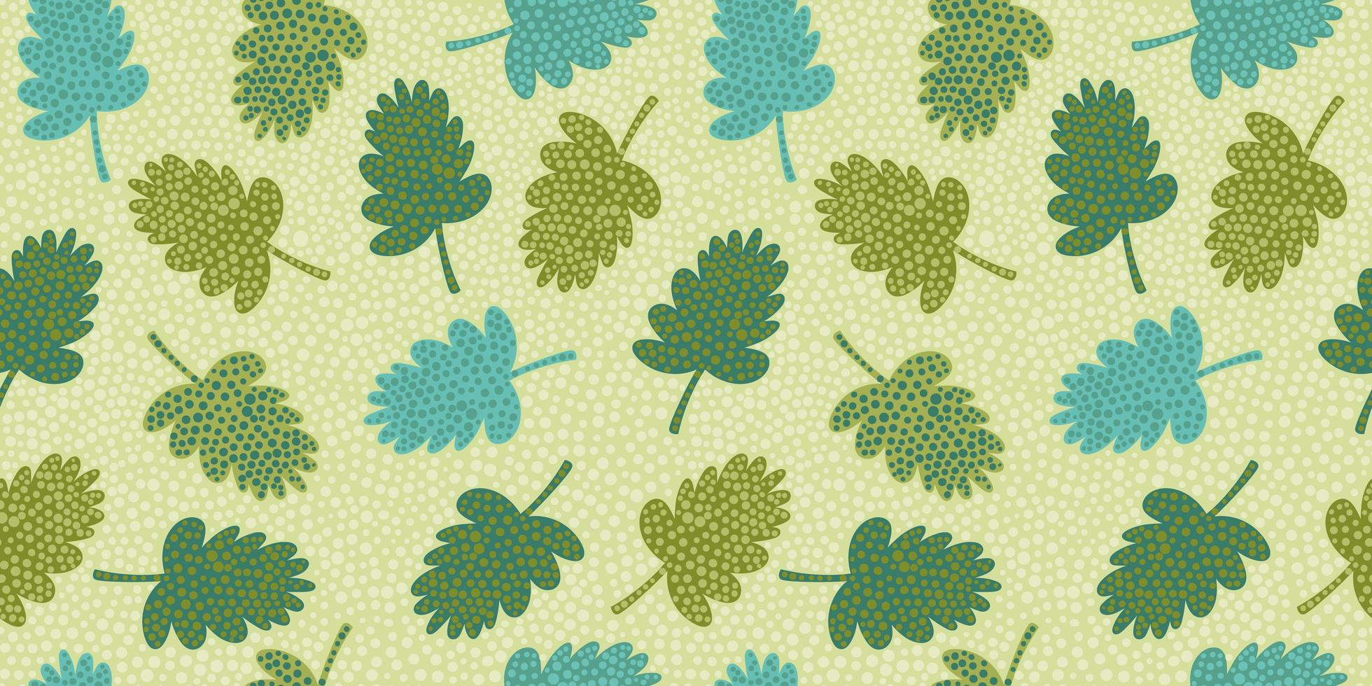artistieke naadloze patroon met abstracte bladeren. modern ontwerp voor papier, omslag, stof, interieur en andere. vector