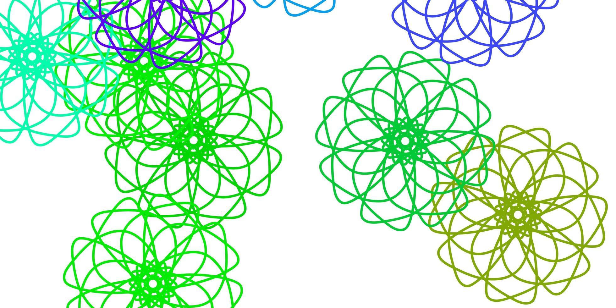 lichtpaars, roze vector doodle textuur met bloemen.