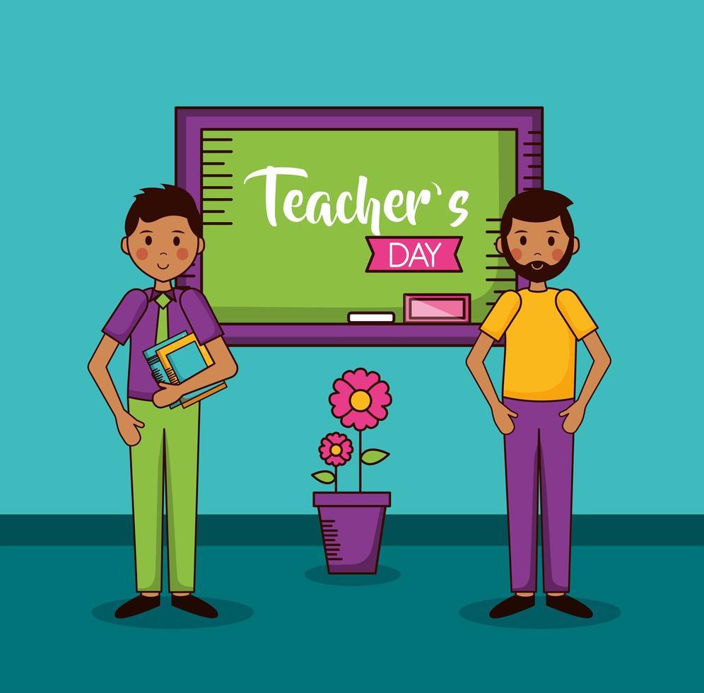 ontwerp van de viering van de dag van de leraar vector