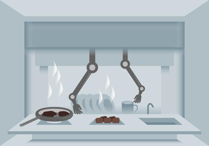 Futuristische Ai Chef-vectoren vector