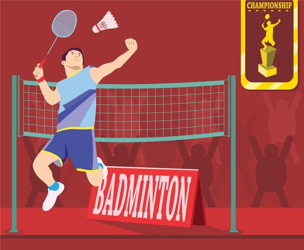 Badminton kampioenschap Vector