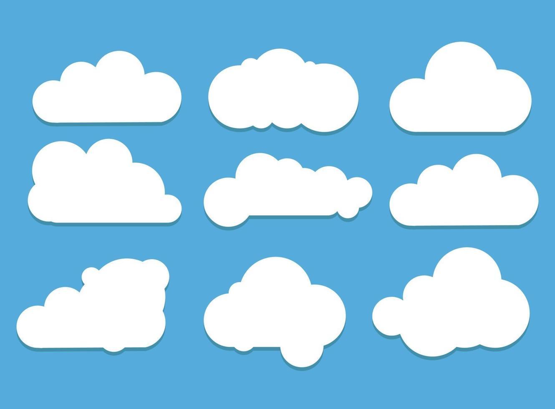 set van wolk iconen vector illustratie